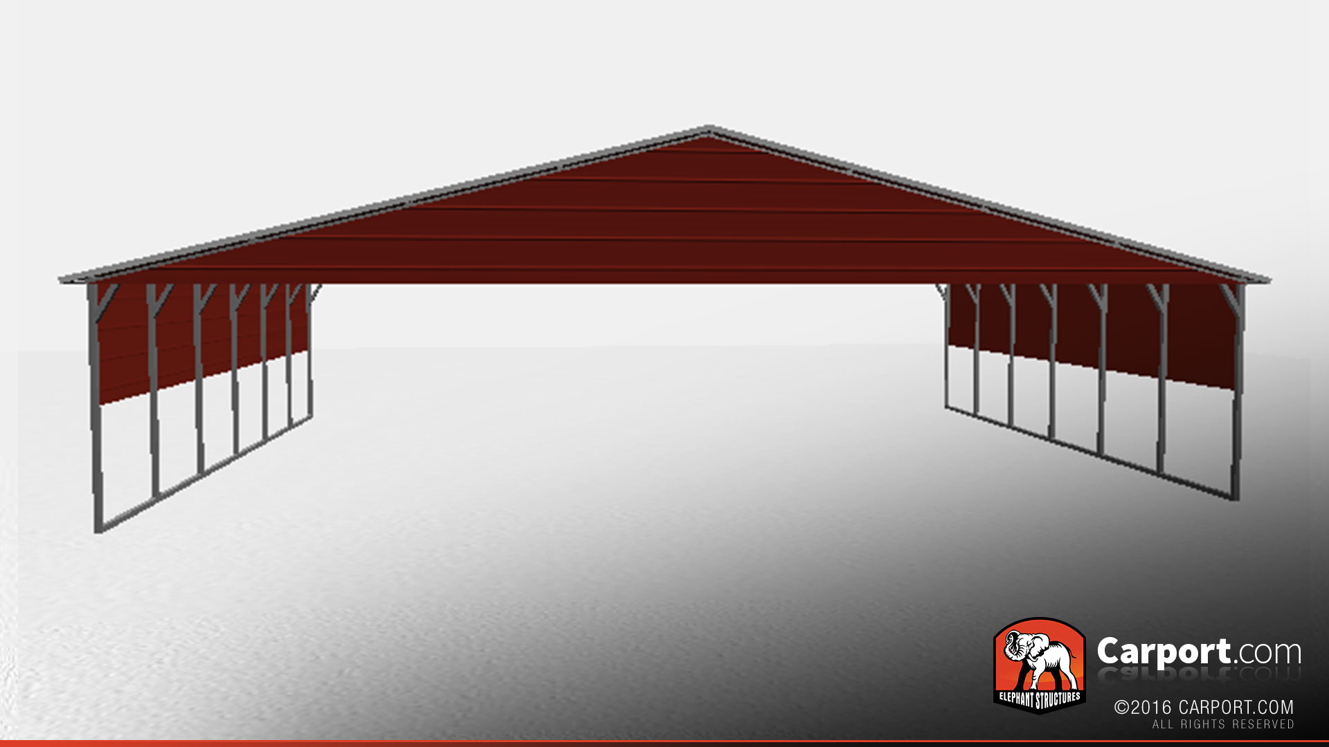 Metal Carport Roof Panels : Vertical roof metal carport with side panels