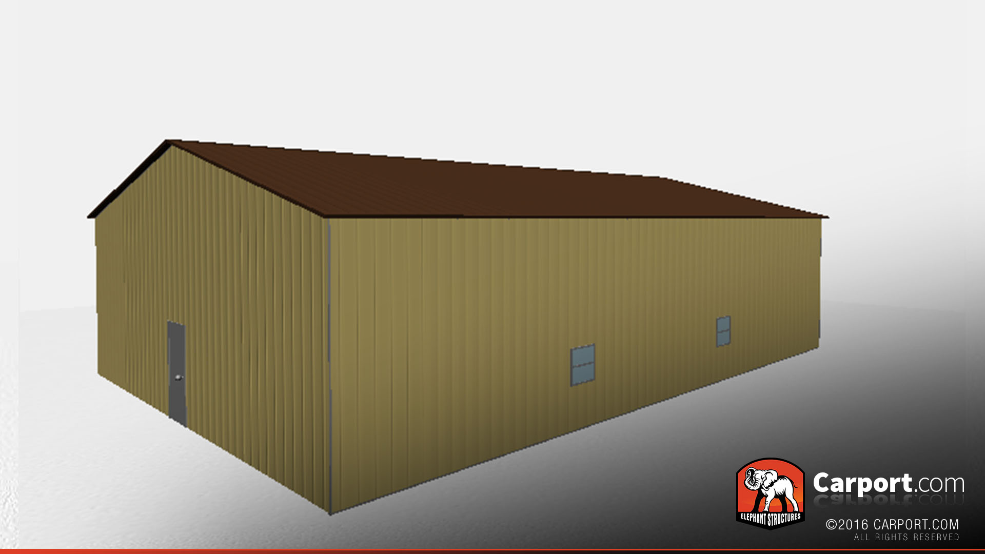 Metal Building With Vertical Siding And Roof 40 X 60