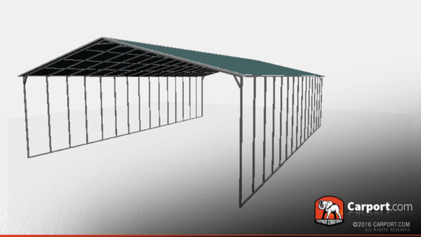 40x60 Metal Carport with Vertical Metal Roof