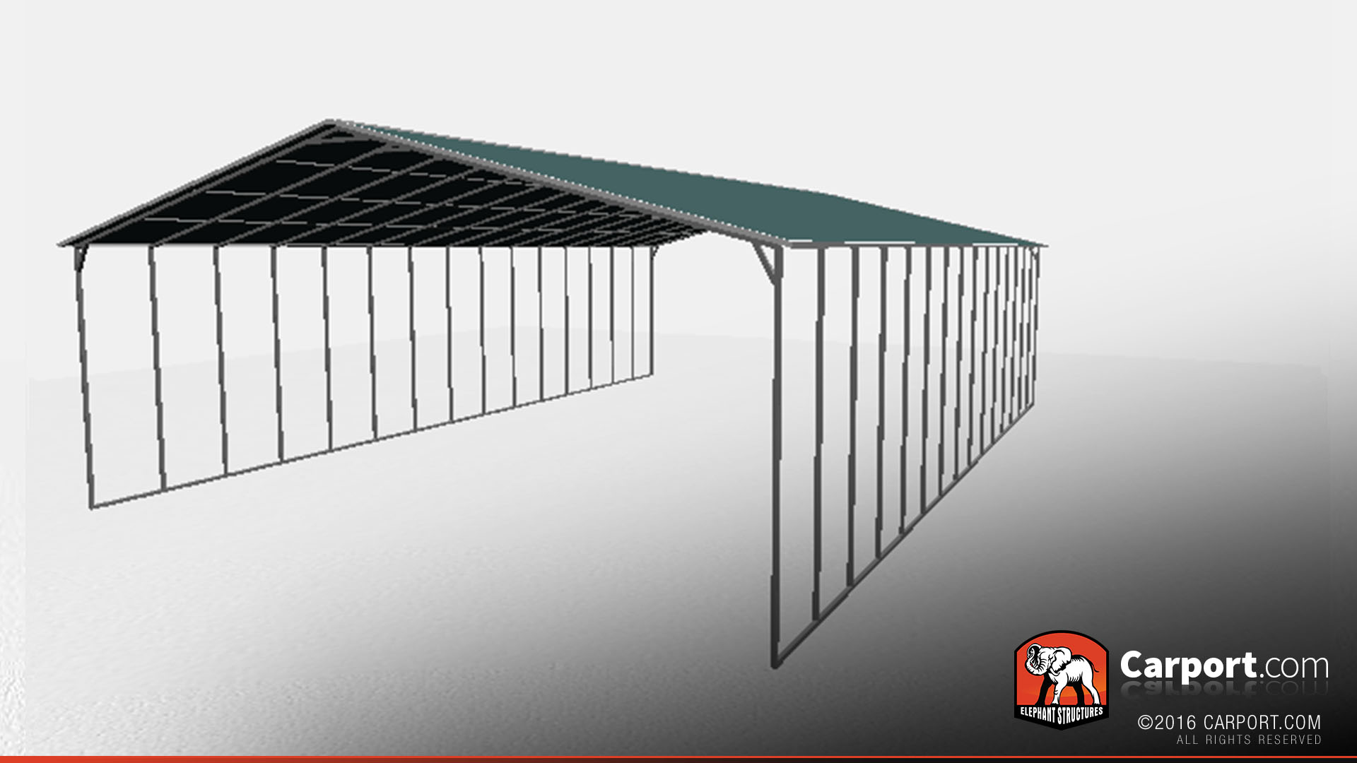 Metal Carport With Vertical Roof Panels 40 X 60 Roof