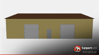 40x60 Metal Building Side Access Garage with Vertical Roofing