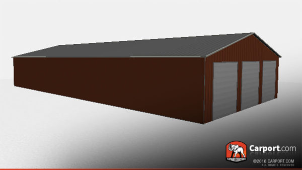 40x80 Metal Storage Building Vertical Style 3