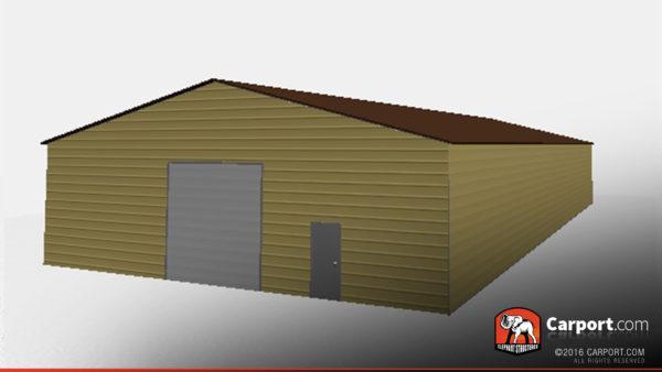 50x100 Commercial Metal Building 2