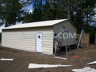 Finishing the metal siding and installing accessories.