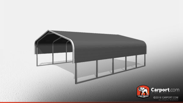 Double Car Metal Carport 1 18x21x6