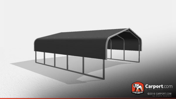 Double Car Metal Carport 3 18x21x6