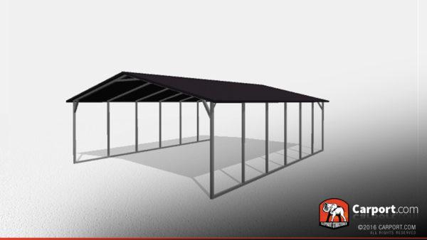 Double Car Steel Carport 1 20x26x7