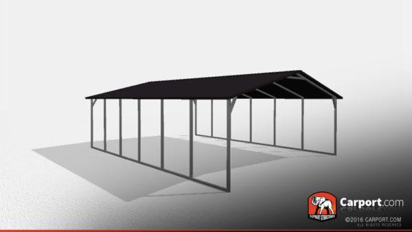 Double Car Steel Carport 2 20x26x7