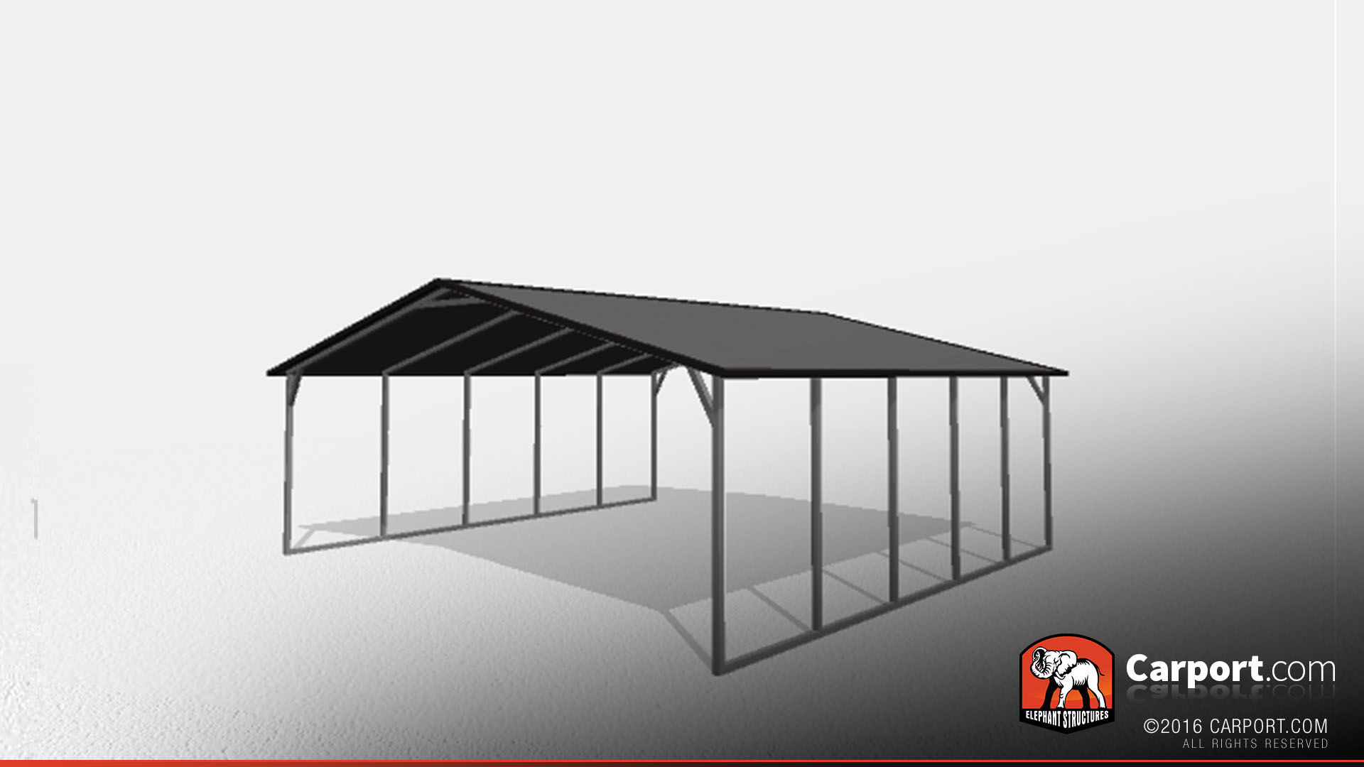 Two Car Steel Carport 22 X 21 X 7 Shop Metal Carports