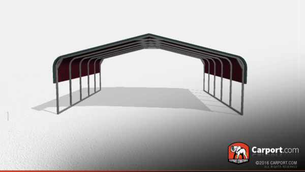24x21 Double Wide Metal Carport