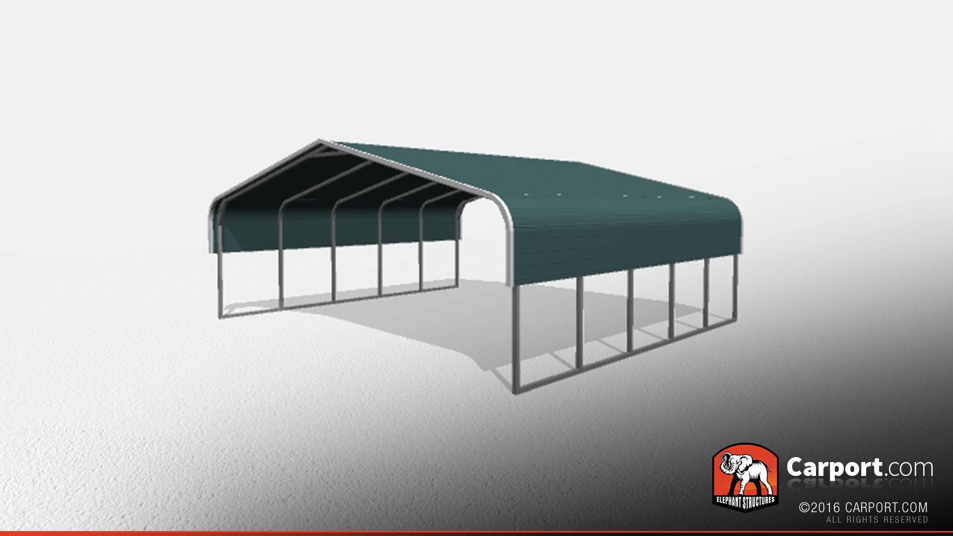 Two Car Metal Carport 24' x 21' x 7'   Shop Carports Online!