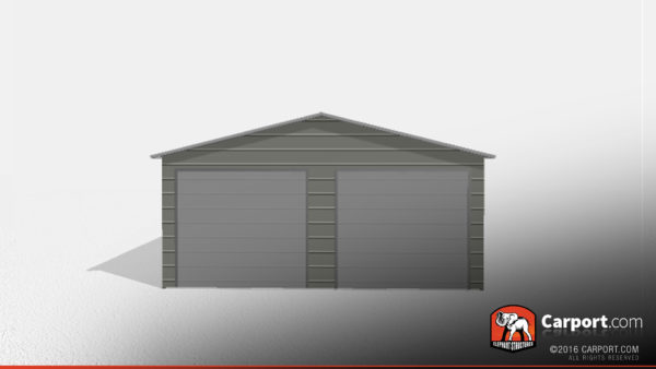 Two Car Steel Garage 3 22x31x9