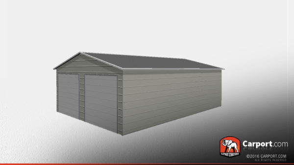 22x31 Clearance Two Car Steel Garage