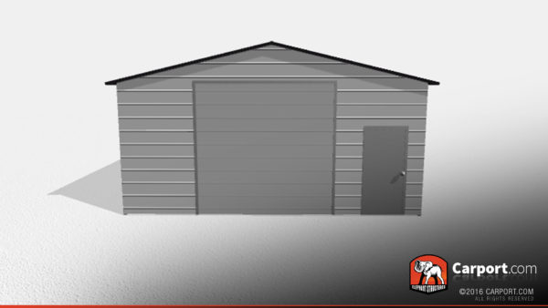Double Wide Steel Garage 1