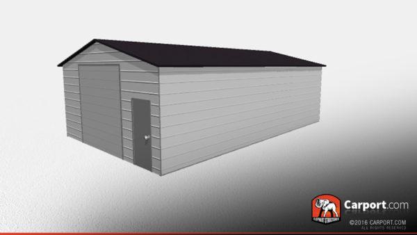 Double Wide Steel Garage 3
