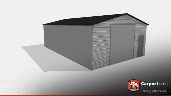 Double Wide Steel Garage 2