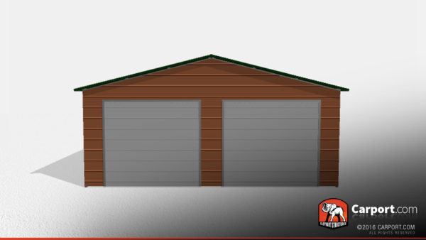 Double Wide Steel Garage 3 24x26x9