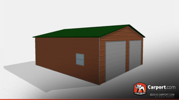 Double Wide Steel Garage 1 24x26x9