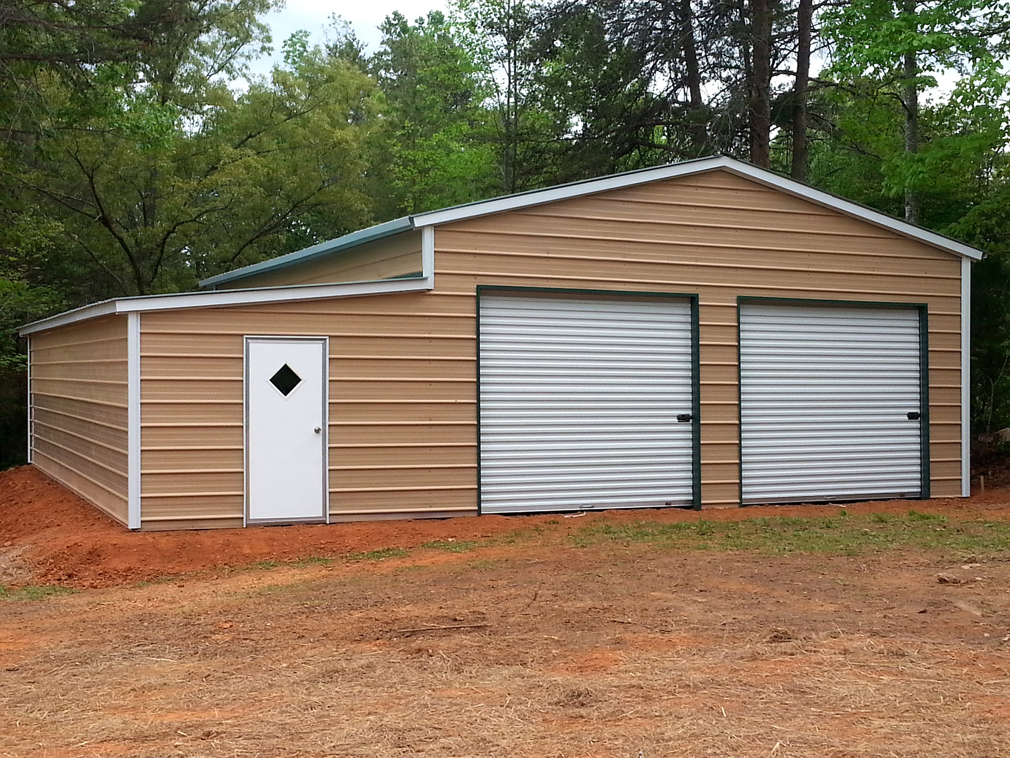 A carport provides covered parking for Rv covered parking structures
