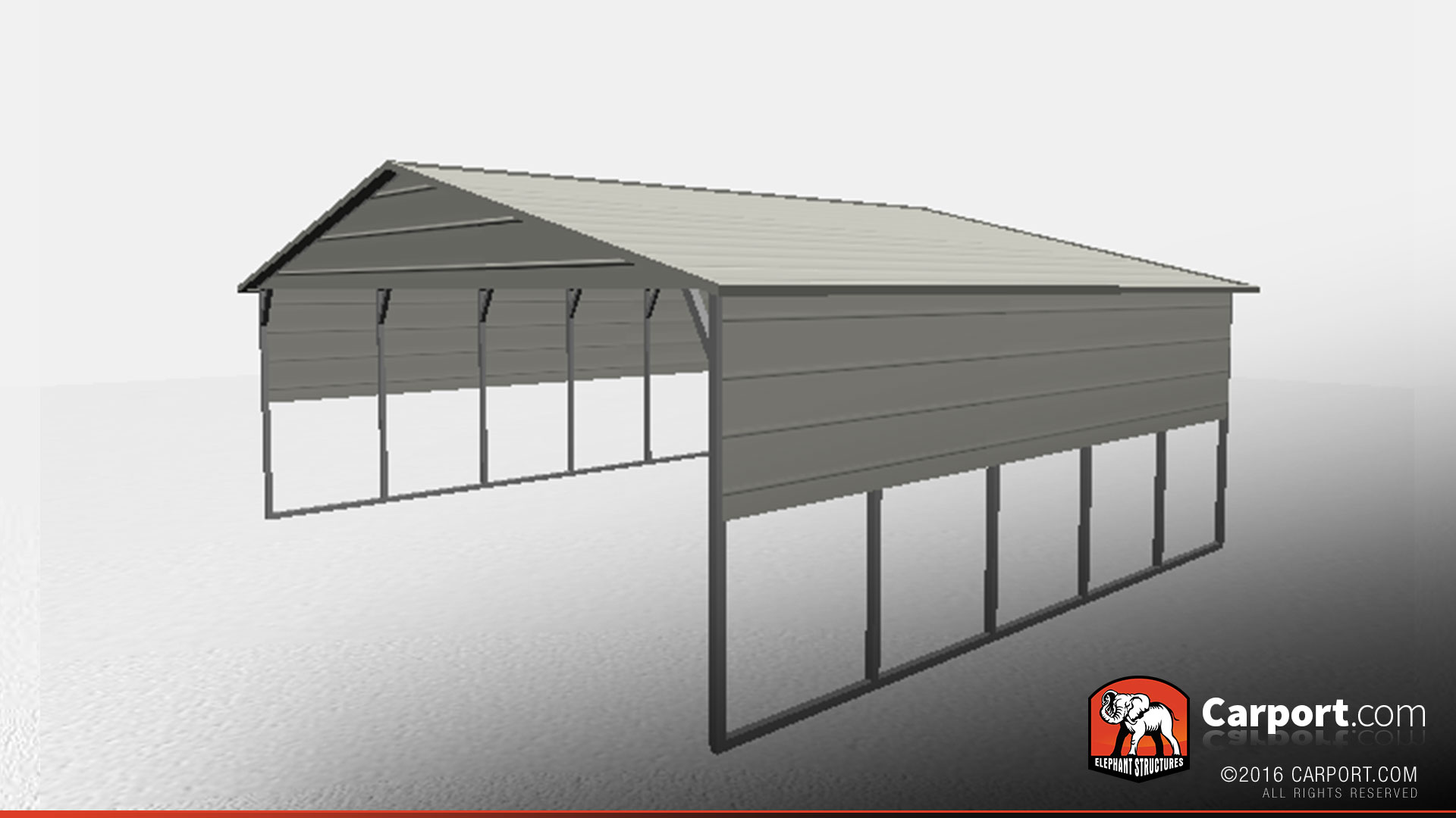 Boxed Eave Double Wide Carport Car Shelter Carport Car