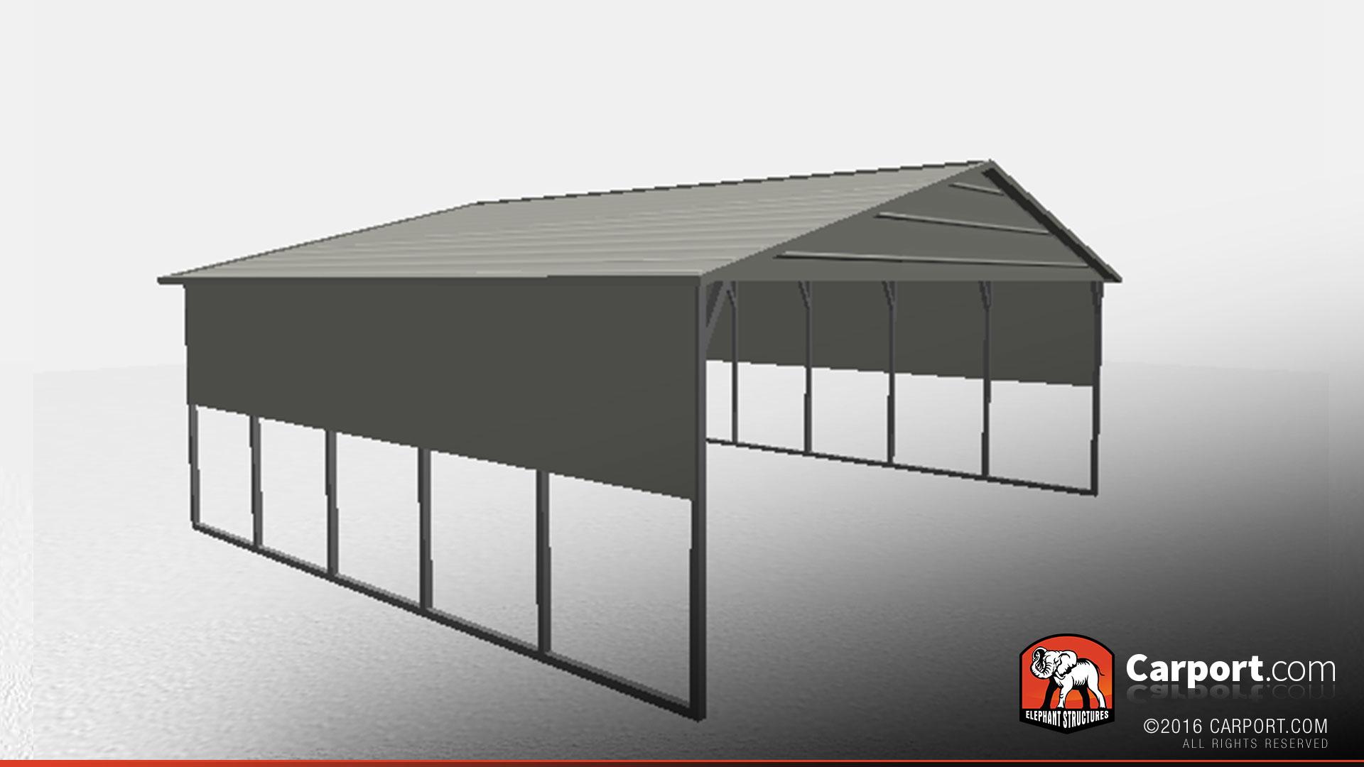 boxed eave double wide carport car shelter carport car shelters. Black Bedroom Furniture Sets. Home Design Ideas