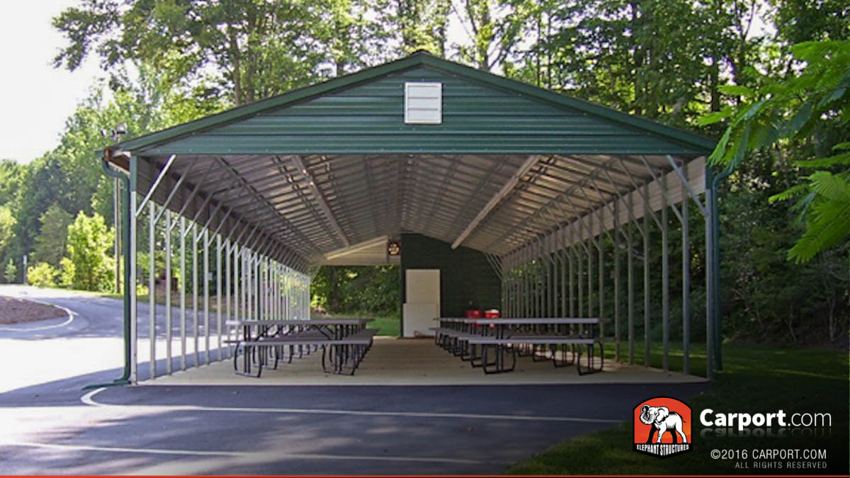 Carport Pavilion picnic shelter designed metal carport.