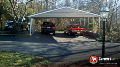 26x24 Custom Triple Wide Metal Carport