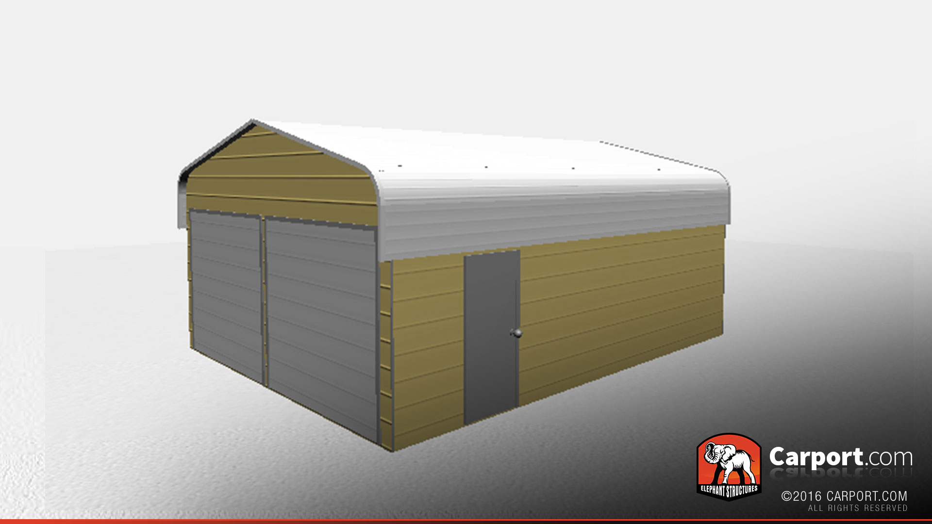 Durable regular style metal building garage 20 39 x 26 for Durable sheds