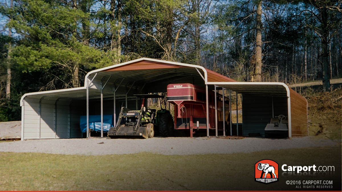 Ohio carports metal buildings and garages for One car garage with carport