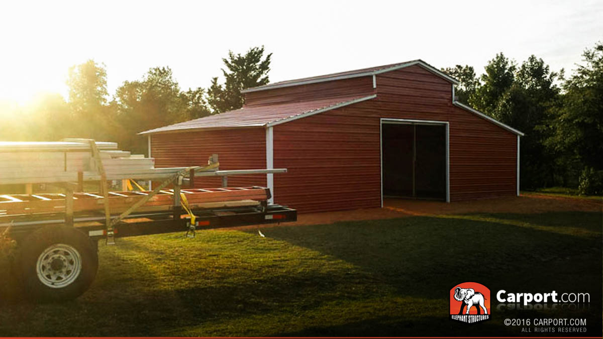 34x21 Metal Barn Ridgeline Style