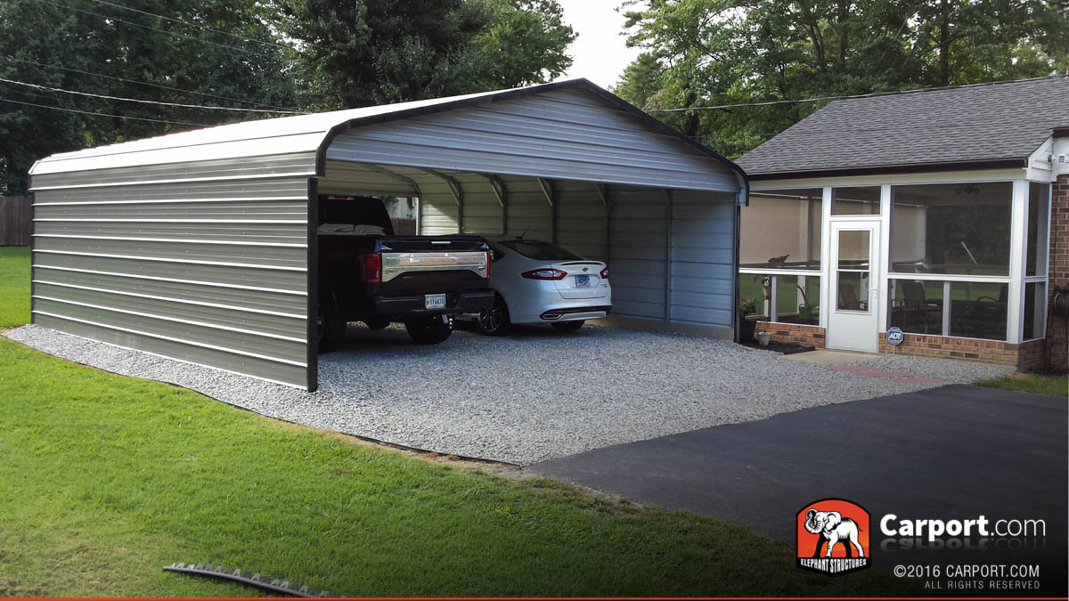 Double wide carport 20 39 x 21 39 x 8 39 shop metal buildings for Metal garage pics
