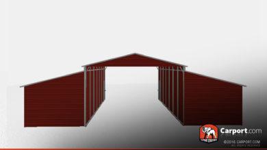 ridgeline-style-metal-barn-closed-storage-areas-32330-front
