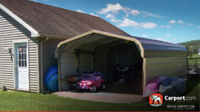 20x24 Double Wide Carport