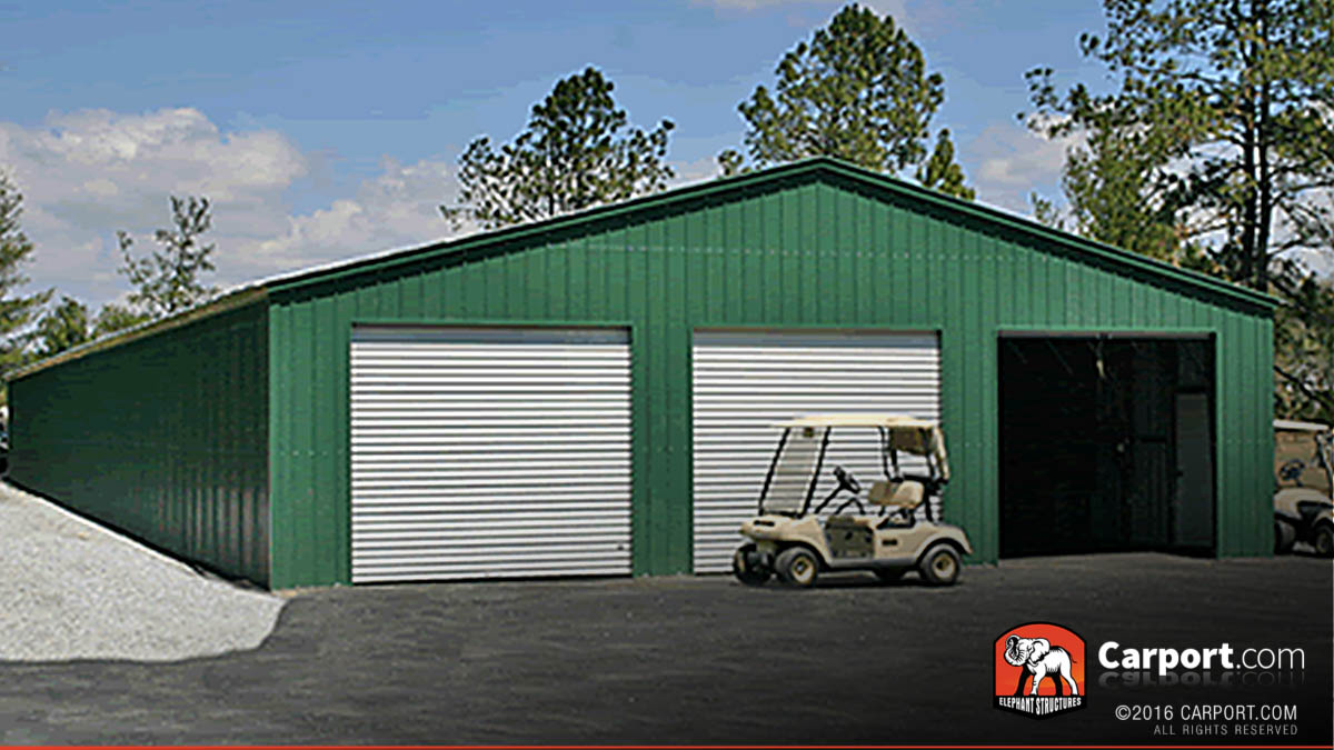 Three bay commercial garage and storage building.