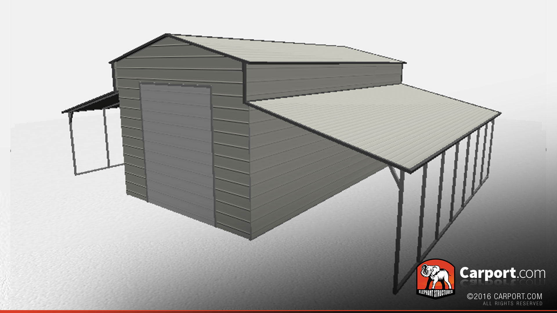 Top Quality Ridgeline Style Metal Barn Garage Carport