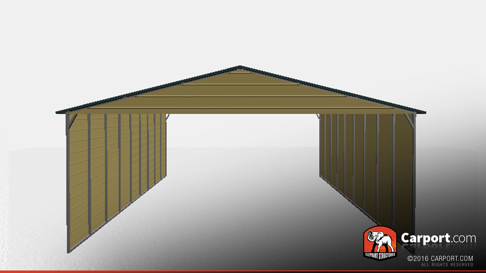 Triple Wide Carport With Closed Sides 26 39 X 26 39 X 10 39 3