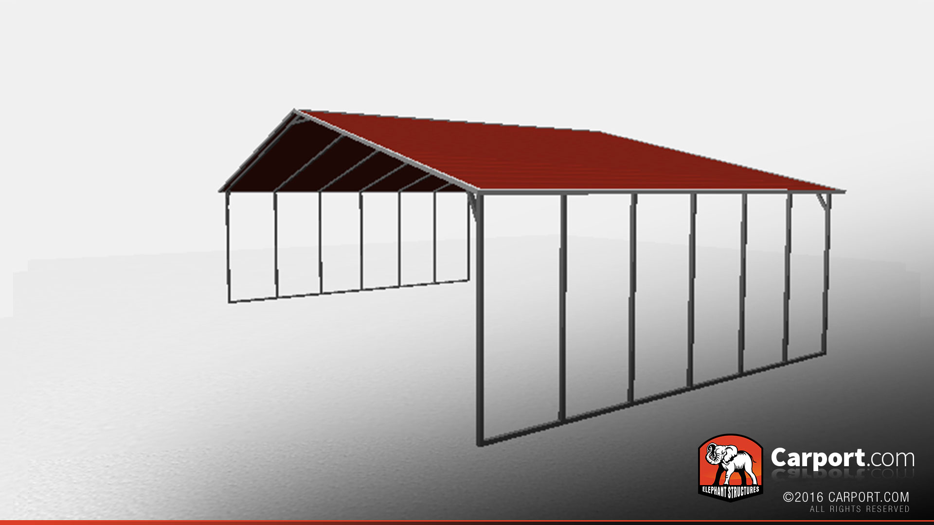 Local Carport Installers Metal Carports : Vertical style commercial metal carport
