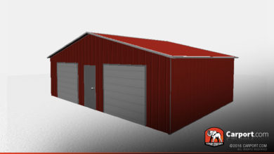 vertical style metal garage
