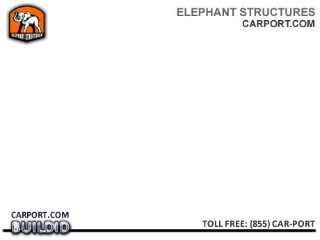 Standard Fully Enclosed Carport Garage Metal Garages - Elephant Structures