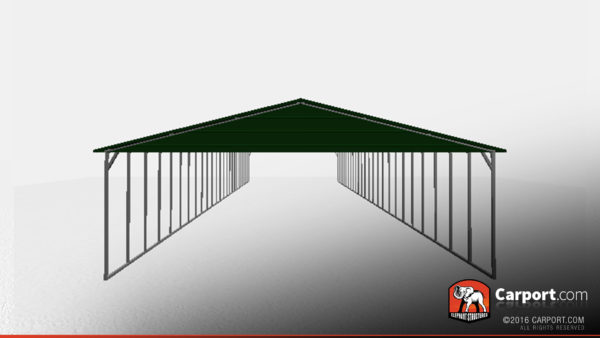 100' long metal carport shelter