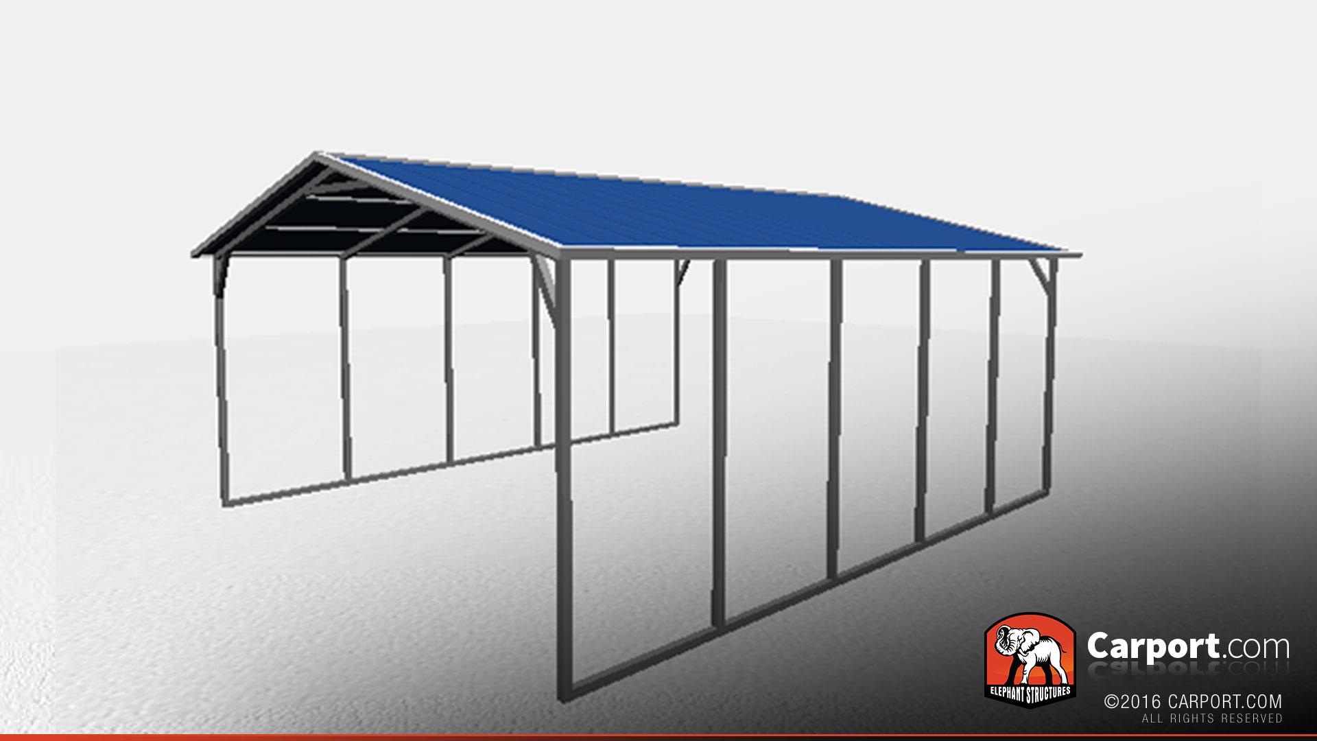 Boat Shelter Aluminum Roof : Vertical roof metal carport shelter