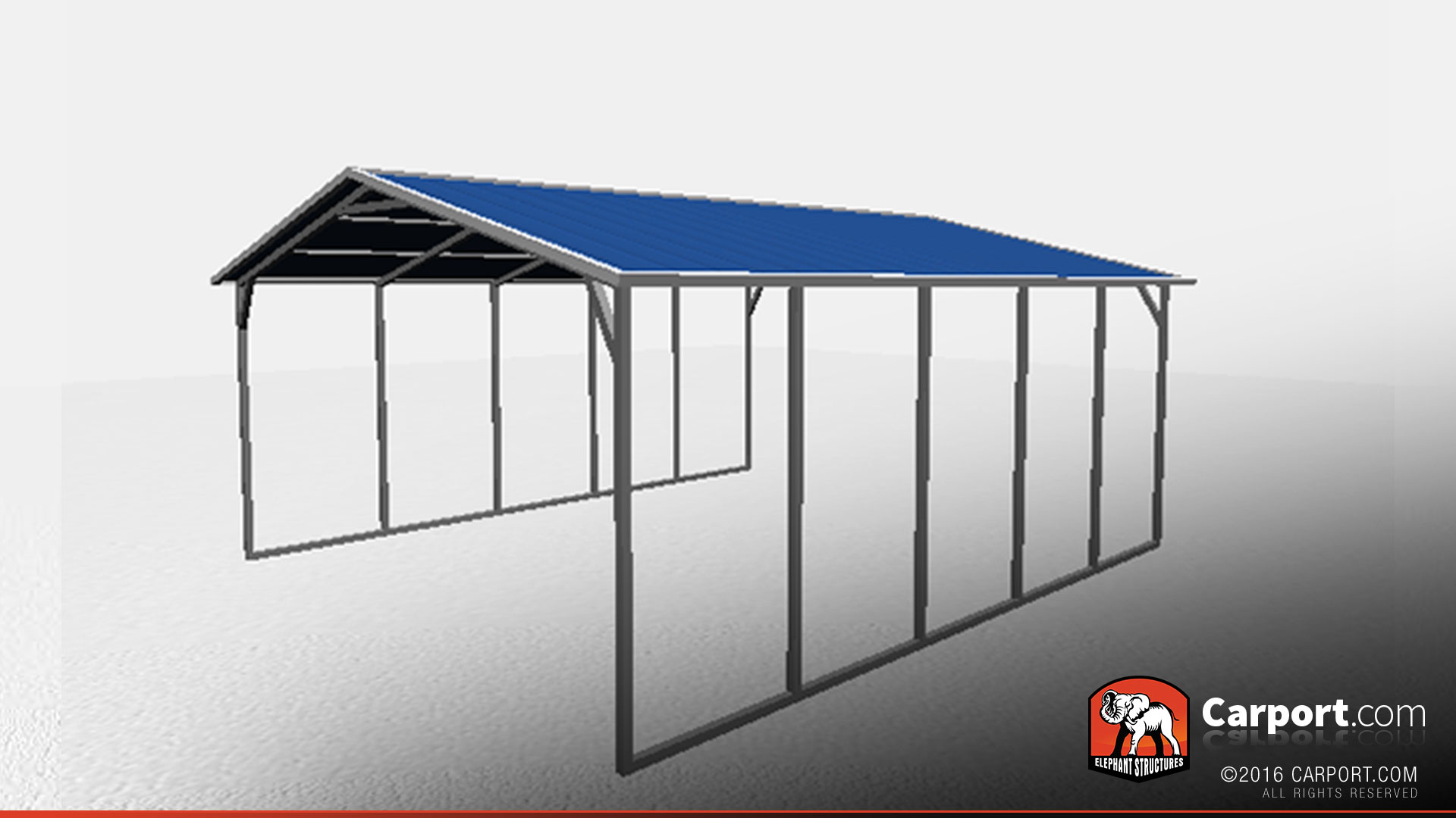 10 18 Metal Carport : Vertical roof metal carport shelter