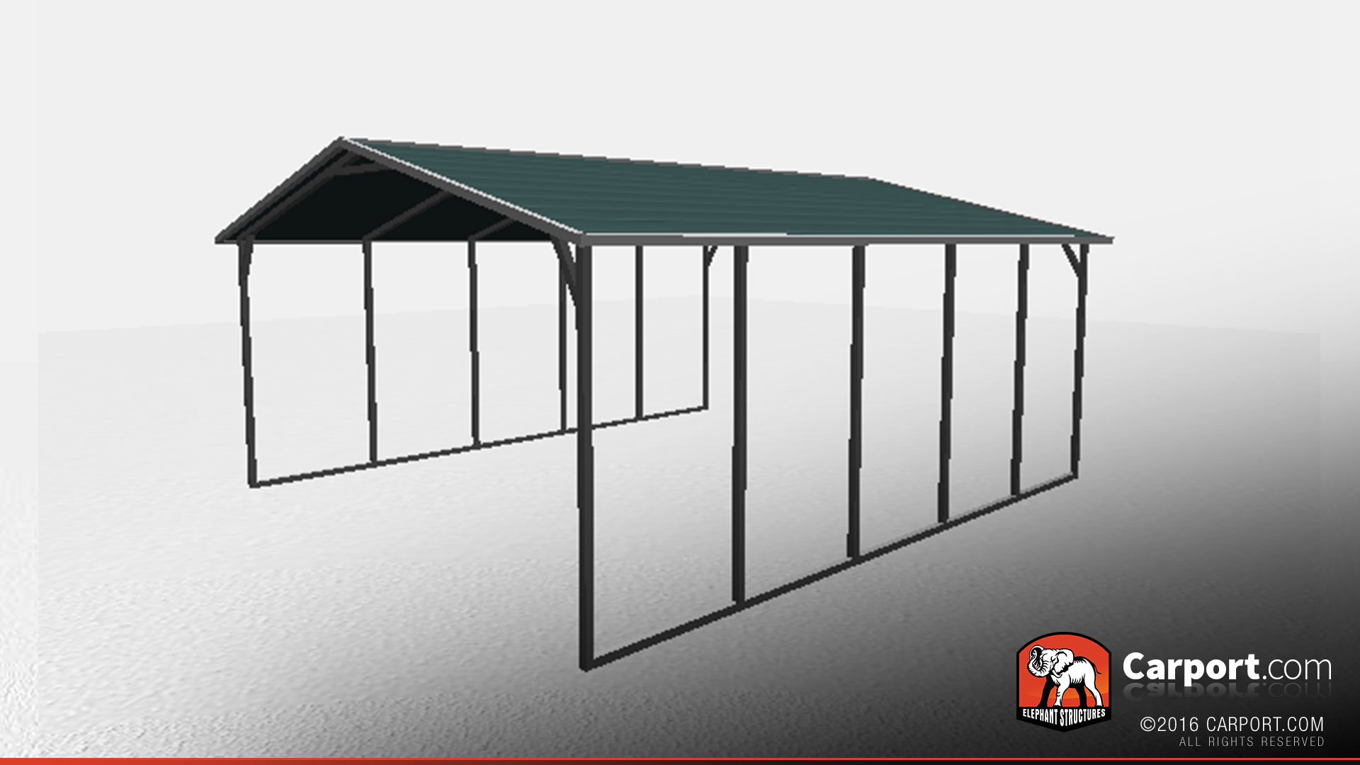 Car Shelter Building : Strong boxed eave car shelter