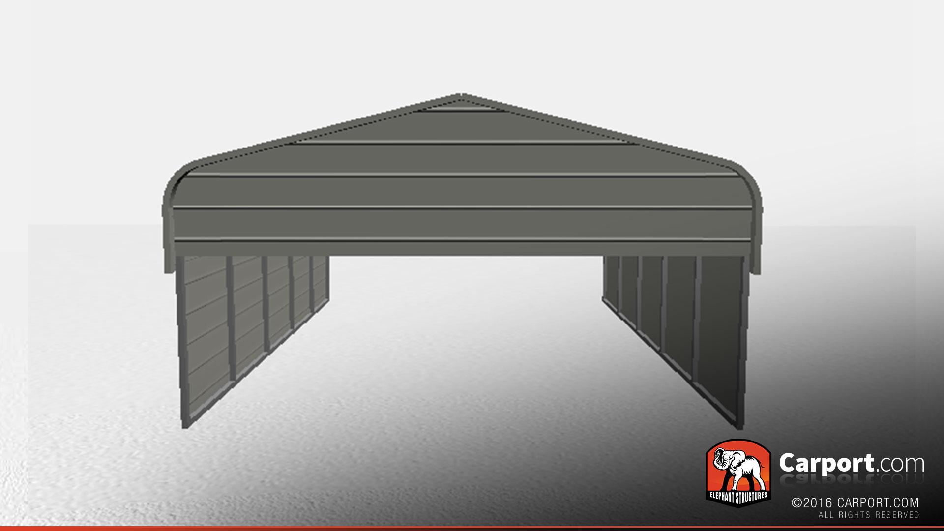 18 21 Carport : Top quality two car metal carport