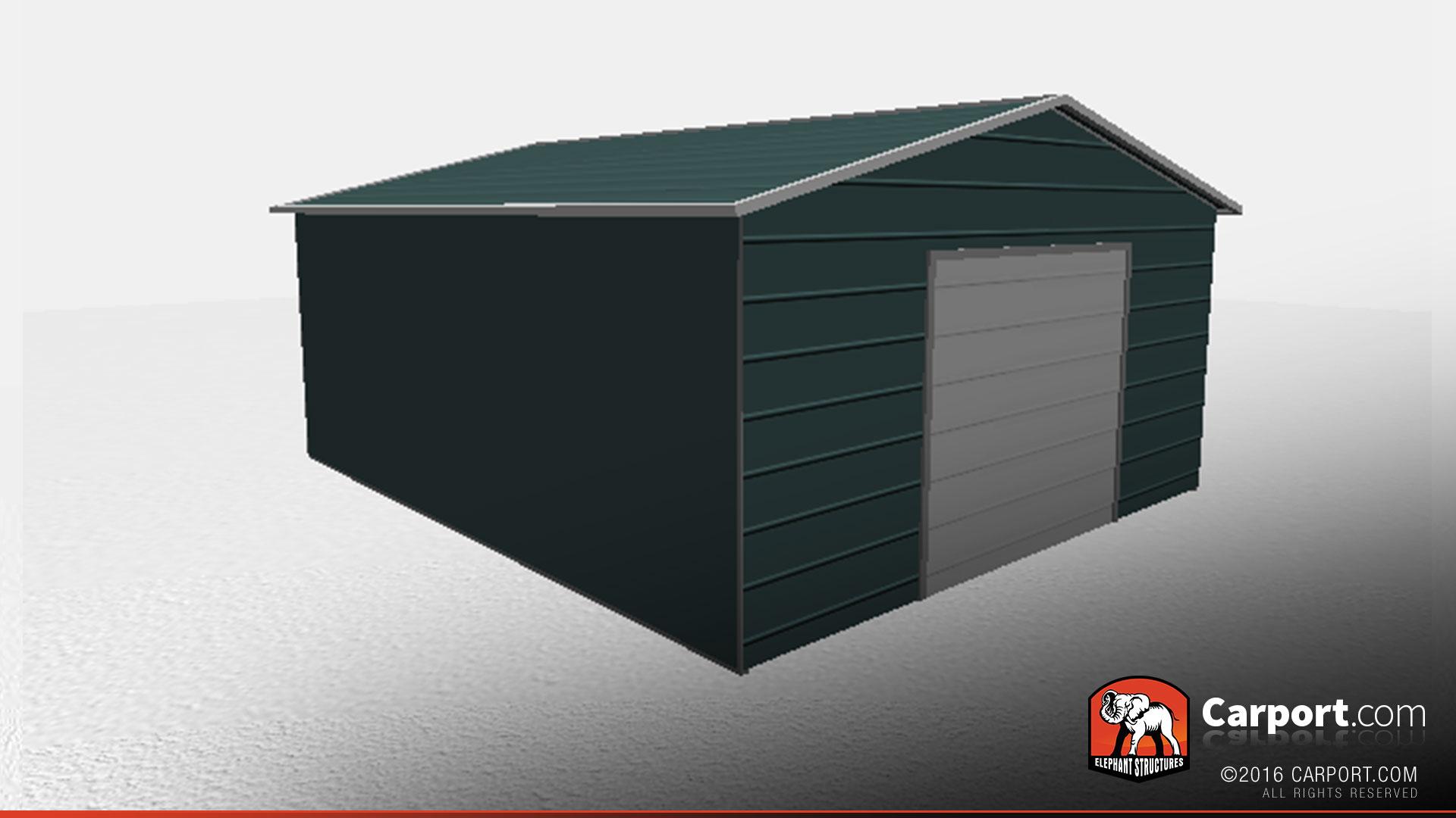 Fully Enclosed Carports : Fully enclosed metal workshop building