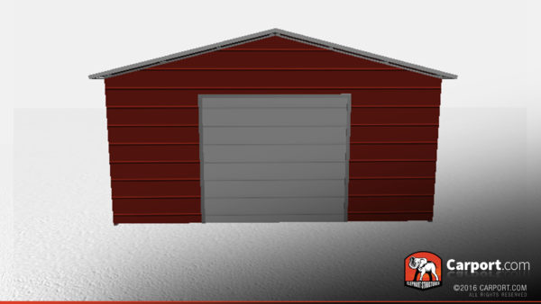 enclosed metal garage