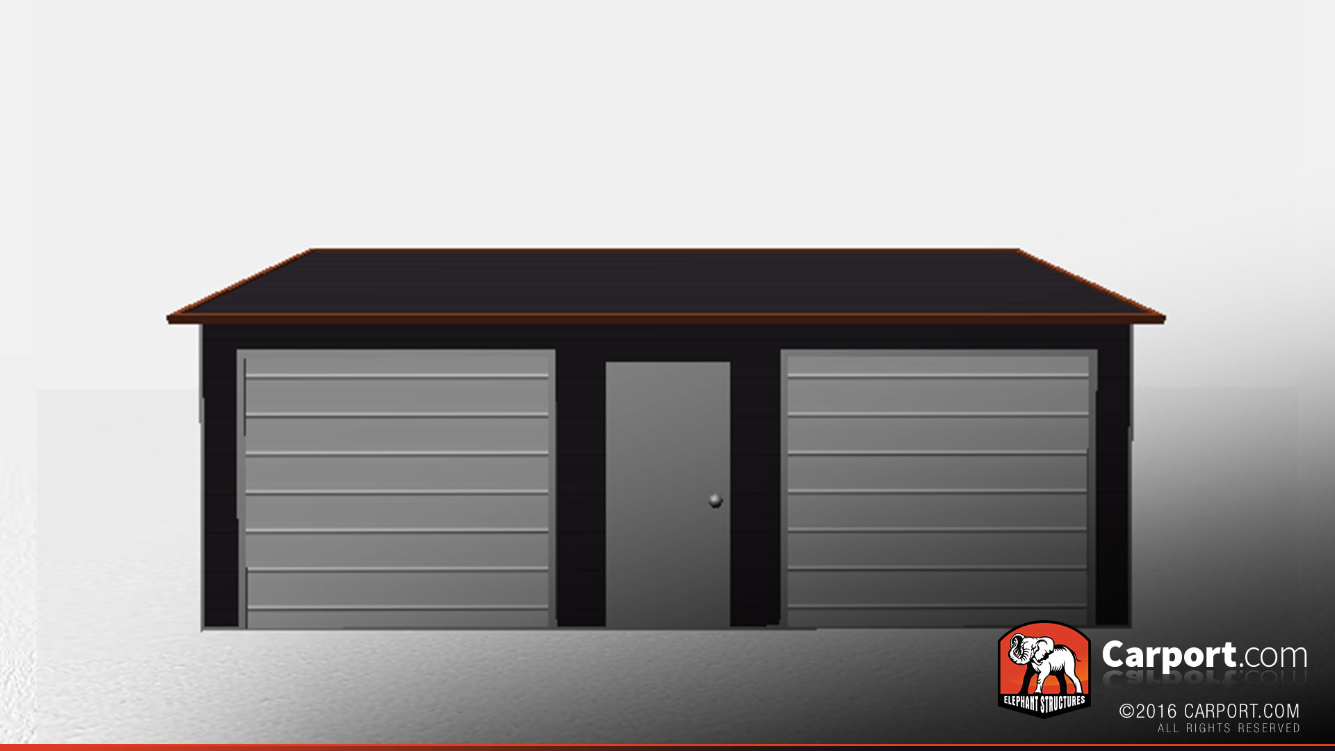 18 39 x 24 39 two car metal garage with boxed eave roof for Carport shop