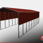 18x41 RV Cover Metal Roof 3