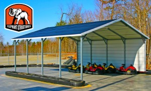 Custom carports can be used for go-karts.