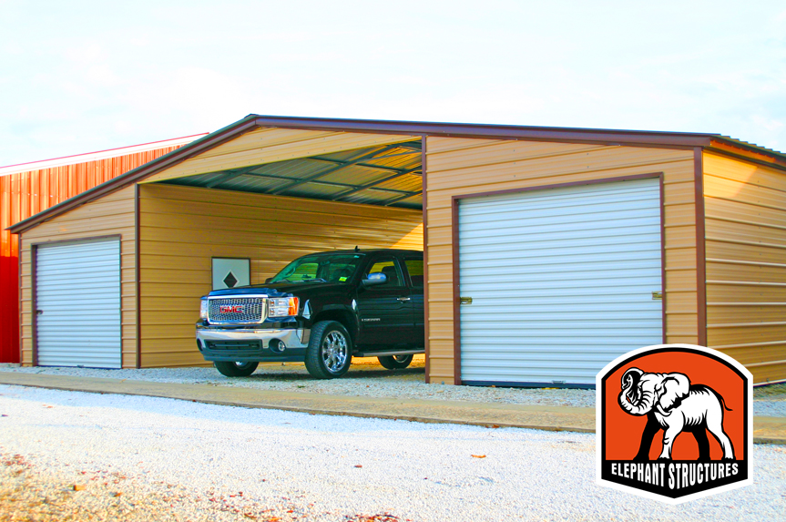 All Steel Carport Kits : Metal garage kits you can assemble yourself